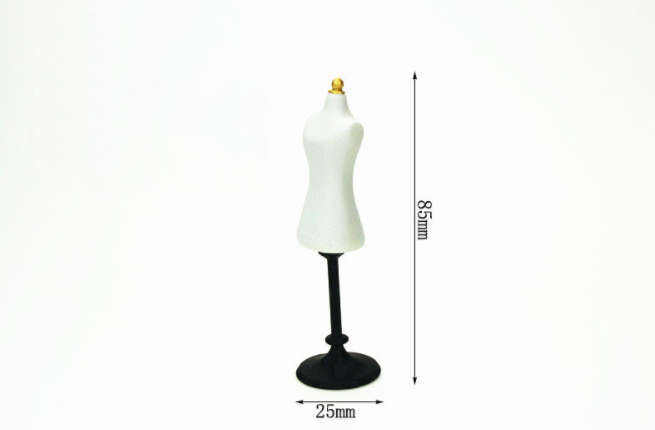 1 Pc new funny Miniature Accessories Dress Form Mannequin Simulation Furniture Toys Action Figure Toys doll house docor gift-1
