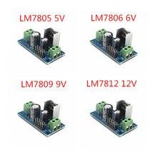 1 pces lm7805 lm7806 lm7809 lm7812 dc/ac três módulo terminal da fonte de alimentação do regulador de tensão 5v 6v 9v 12v saída máxima 1.2a
