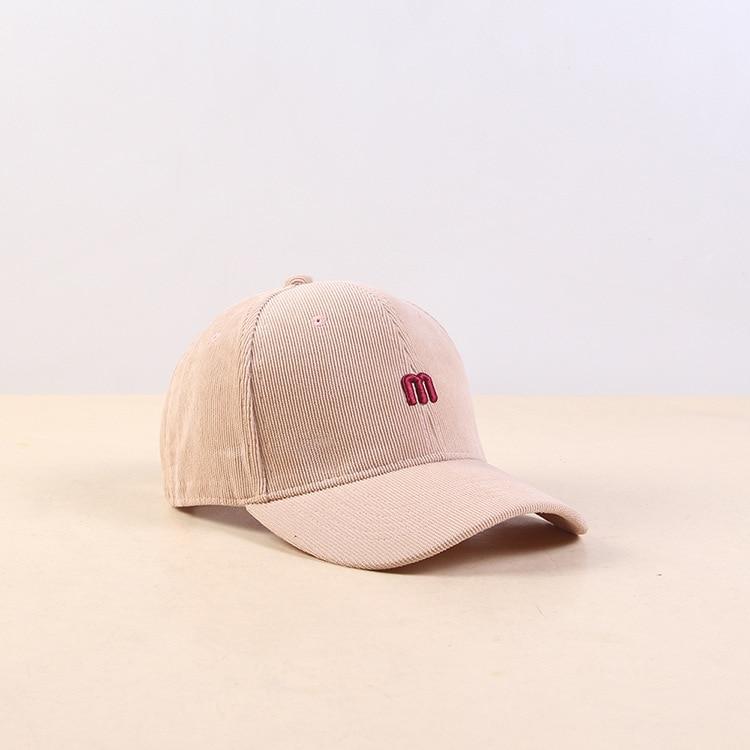 Хлопковая Вельветовая Женская Мужская бейсболка с надписью вышитая солнцезащитная Кепка унисекс Snapback хип хоп Регулируемая шапка для папы бейсболка - Цвет: Color   4