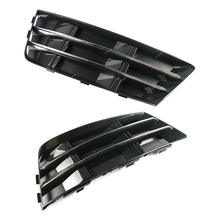 Grille-Grill with Chrome-Panel For-A4 Fog-Lamp-Cover Fog-Light Front-Bumper B9 Left 2pcs