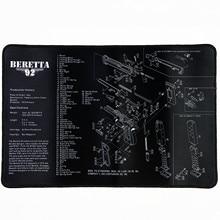 Водостойкий пистолет для очистки резиновый коврик для Beretta 92 пистолет оружейники оружейный инструмент для разборки со списком деталей патчи скамейки