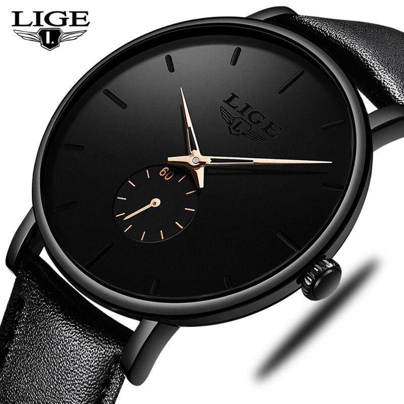 LIGE Fashion Men Sports Watch Men Analog Quartz Watches 30ATM Waterproof  Business Wrist Watch Men Clock Relogio Masculino 2019