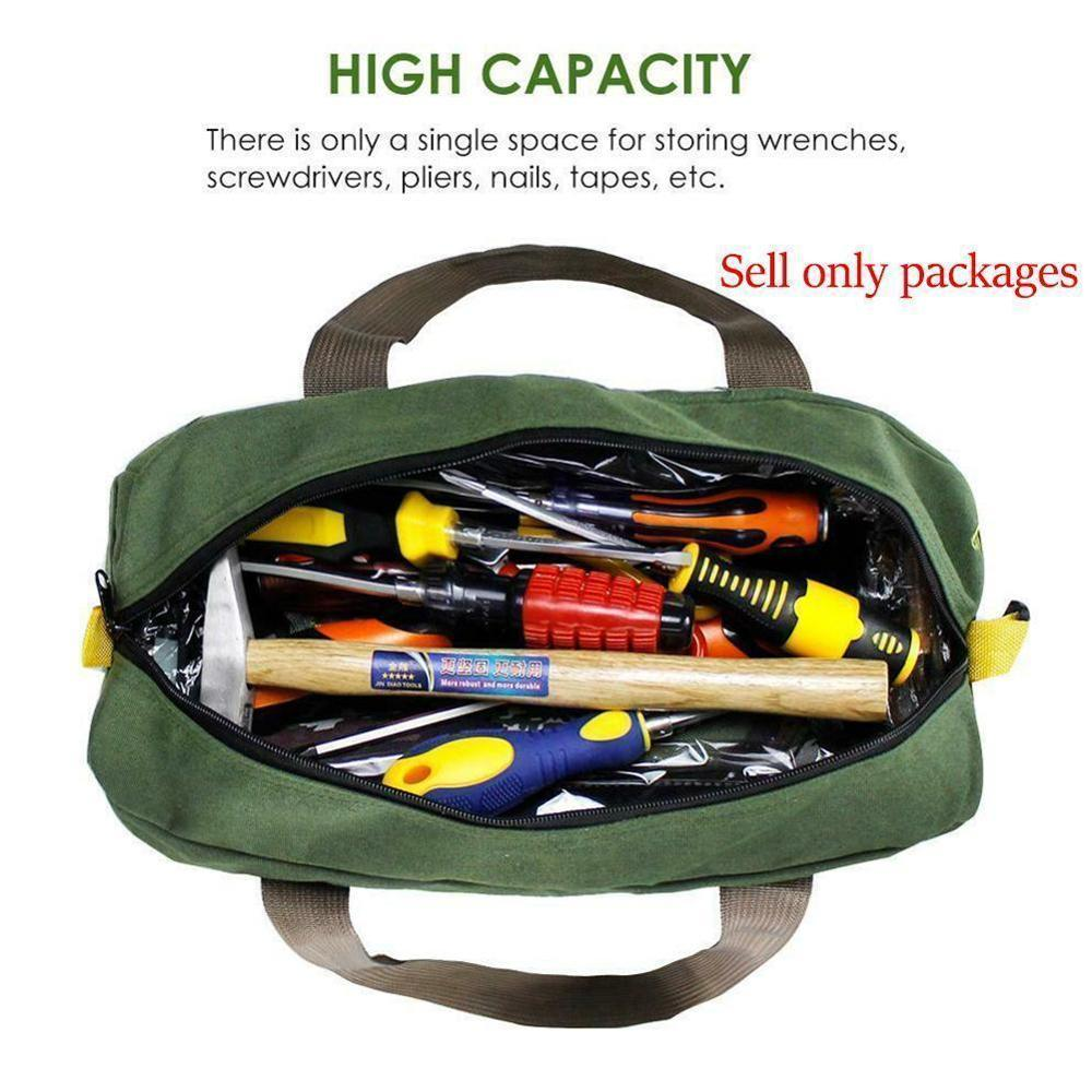 Multi-function Canvas Waterproof Storage Hand Tool Bag Portable Toolkit Pliers Metal Hardware Parts Storage Bags Organizer Pouch