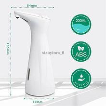 Hot 200ml Automatic Liquid Soap Dispenser Smart Sensor Touchless ABS Electroplated Sanitizer Dispensador for Kitchen Bathroom