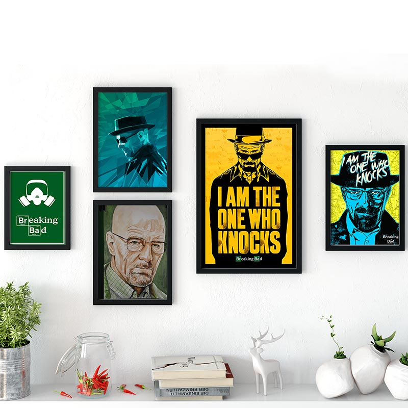 Breaking Bad Poster Custom Satin Poster Print Cloth Fabric Wall Poster Print Silk Fabric Print No Frame For Bedroom Decoration