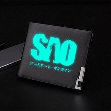 Luminous Wallet Money-Clip Art-Online Anime Women Purses Sword SAO for Teens Students