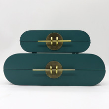 Simple Modern Jewelry Storage Box Wooden Creative Dressing Table Home Soft Outfit Model Room Retro Jewelry Box Ornaments