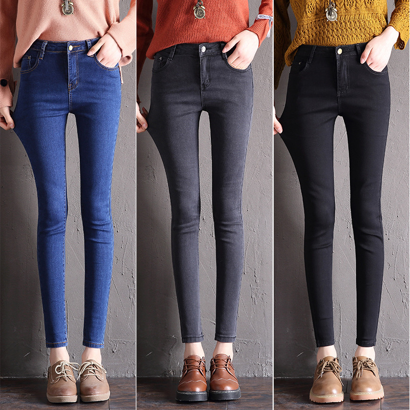 2020 New High-waist Women's Jeans Stretch Thin Skinny Jeans High Quality