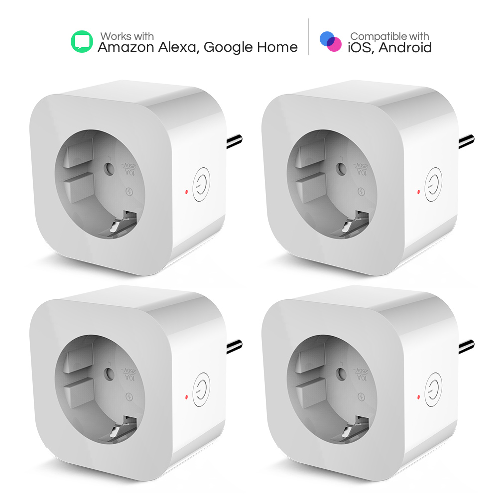 2/4Pcs Elelight WiFi Smart Socket Remote Control Outlet Socket Smart Plug Wall Sockets EU Universal Electric Socket Dropshipping