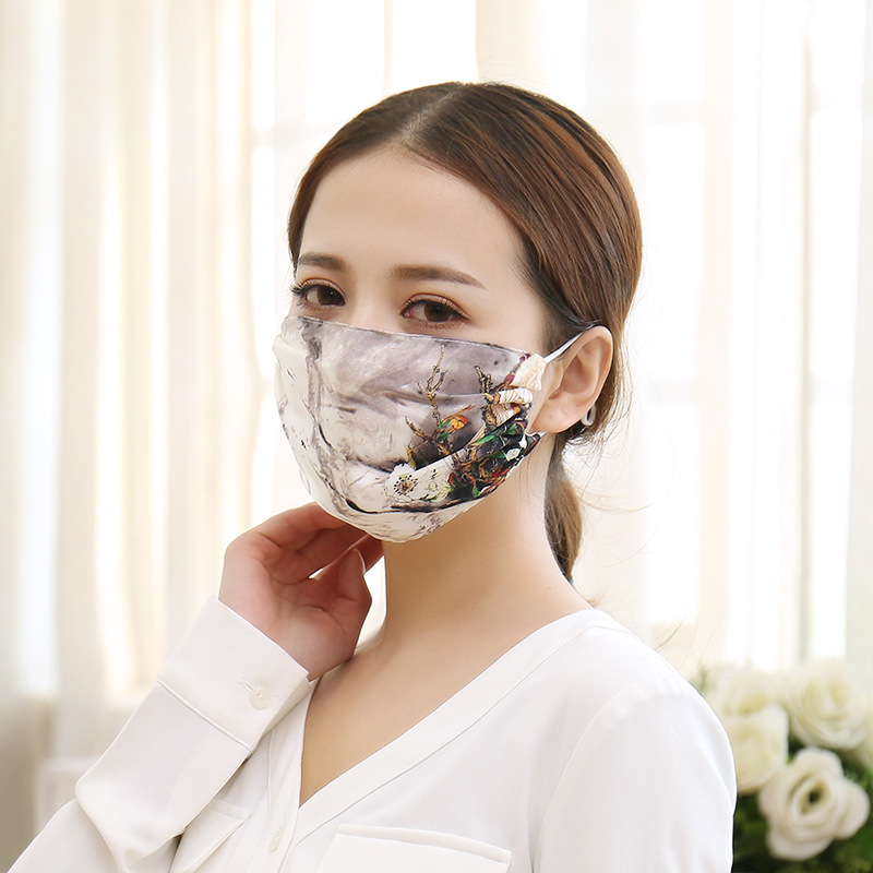 100% Real Silk Mouth Mask For Women High Quality Pure Silk Face Mouth Mask Natural True Silk Mask Luxury Garment Accessory