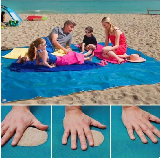 Magic Beach Mat Outdoor Travel Magic Sand Free Mat Beach Picnic Camping Waterproof Mattress Blanket Foldable Sandless Beach Mat