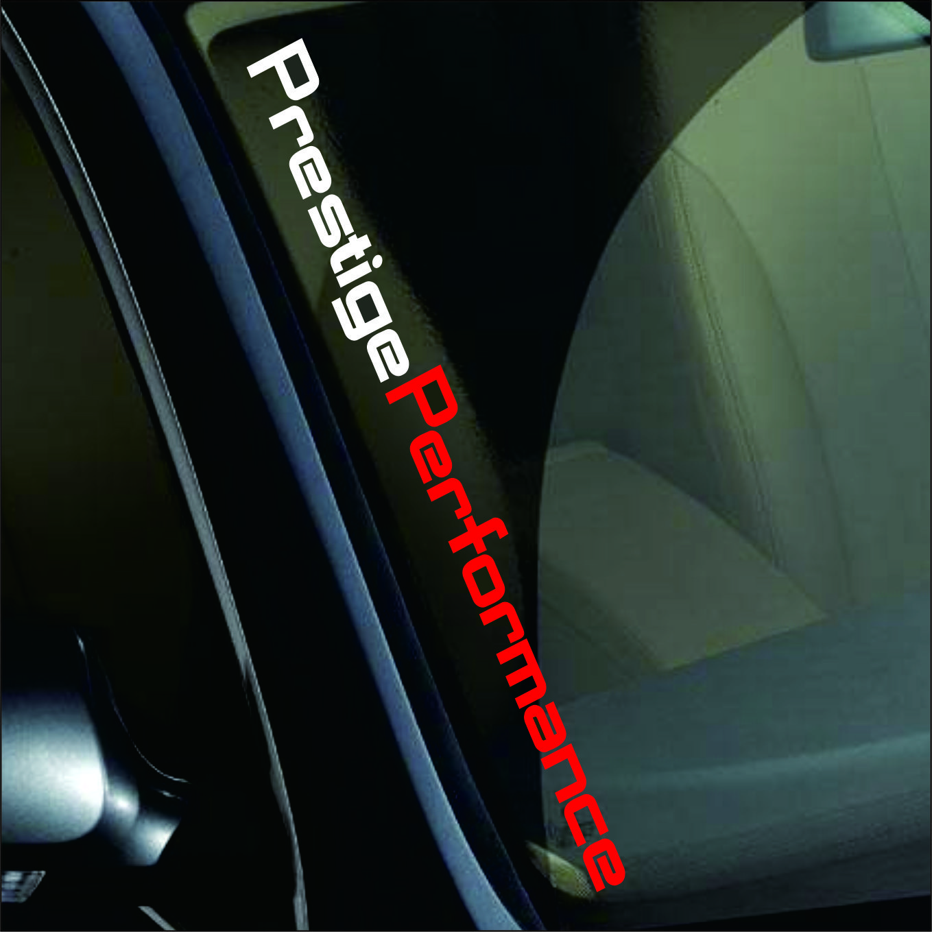 55 X 6CM Red/White Prestige Performance Graphic Front Windshield Decor Stickers Auto Door Customized Decal Sport Styling