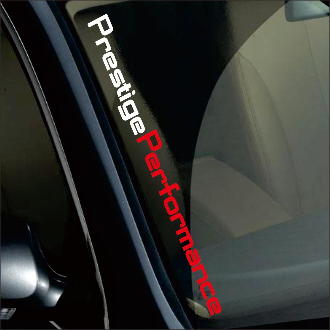 55 x 6CM Red/White Prestige Performance Graphic Front Windshield Decor Stickers Auto Door Customized Car Body Sticker Lebal