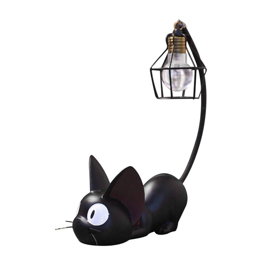 Creative Magic Jiji Cat Night Light Home Resin Crafts Ornaments Home Desktop Decoration Ornaments