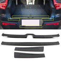 Aço inoxidável acessórios de estilo do carro interior & exterior choques traseiro placa capa trims 4 peças para volvo xc40 2018 2019 2020