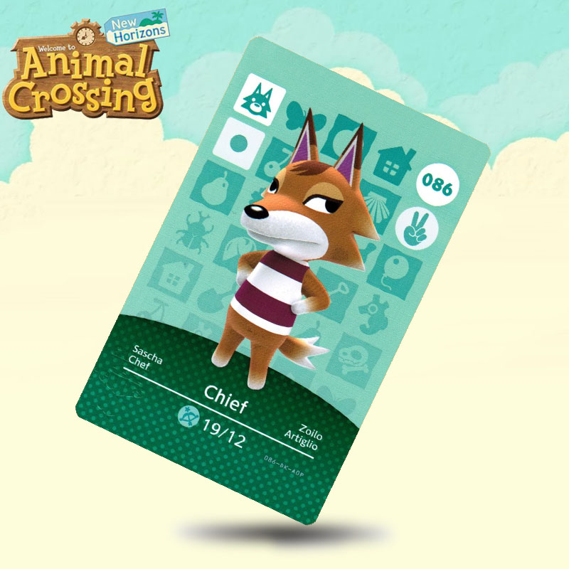 086 Chief  Animal Crossing Card Amiibo Cards Work For Switch NS 3DS Games
