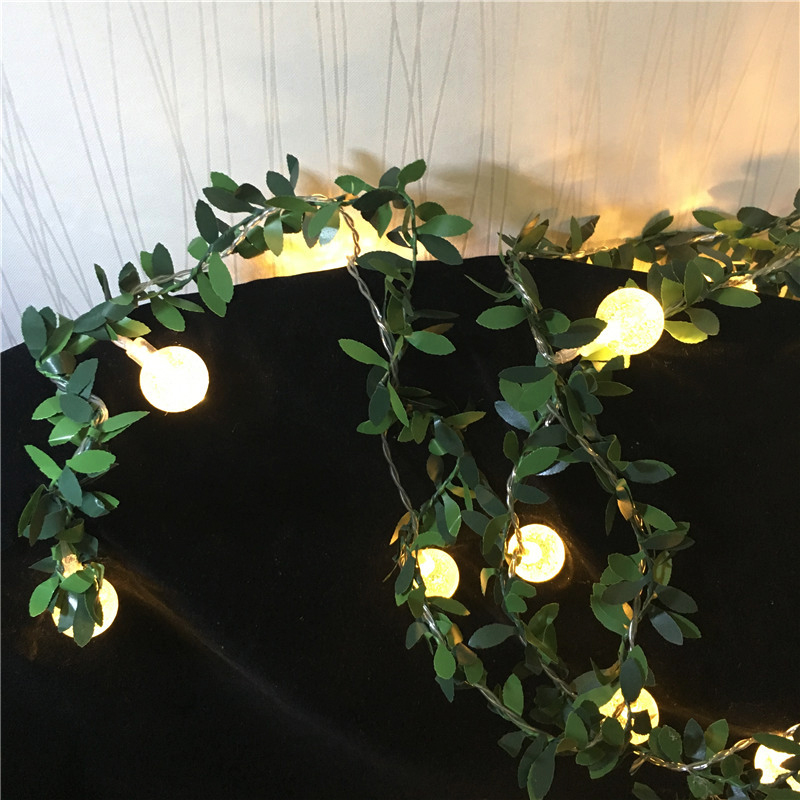 LED Ivy Leaf Ball String Battery Powered Fairy Light Home Birthday Valentine's Day Event Party Garland Lighting Decor Luminaria
