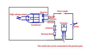 Image 5 - 15KV High Voltage Inverter Frequency DC  Generator Spark Arc Ignition Coil Module 18650 DIY Kit U Core Transformer Suite 3.7V