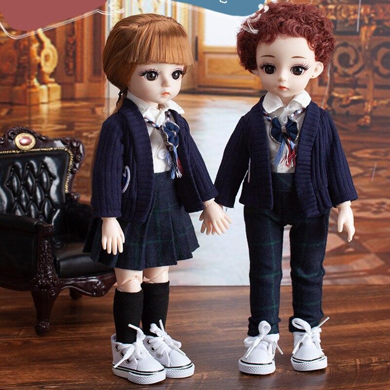 Шарнирные куклы 30 см 1/6, 15 подвижных шарнирных модных кукол для макияжа, игрушки для девочек с одеждой, куклы с одеждой, нарядом, обувью, парик...