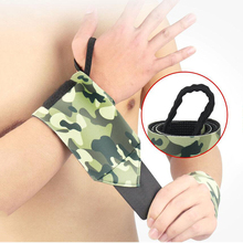 2PC Camouflage Sports Wristband Crossfit Wrist Support Gym Fitness Weightlifting Powerlifting Hand Strap Bandage Protector