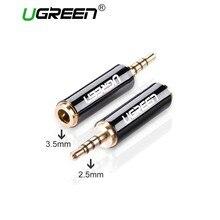 Adaptador de fone de ouvido ugreen, conversor de áudio macho para fêmea 2.5mm de metal estéreo para iphone e celular telefone móvel
