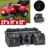 27Inch ATV Padded Cargo Bag Mountain Bike Rear Shelf Luggage Bag Travel Finishing Storage Large Capacity Accessories Carrier