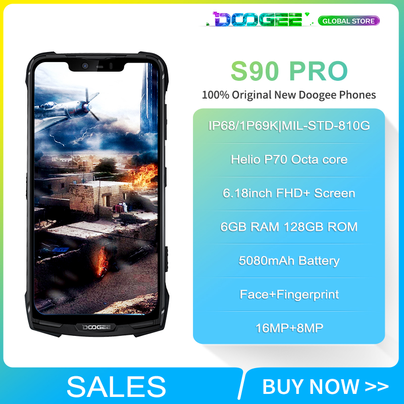 """Image 2 - Doogee S90 Pro Modular Rugged Mobile Phone IP68 Helio P70 6.18"""" Display Octa Core 6GB 128GB 16MP+8MP Android 9 12V2A SmartphoneCellphones   -"""