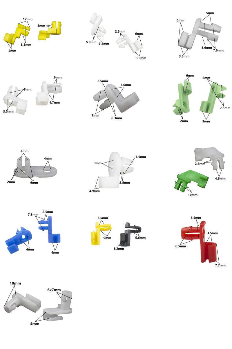 Tự Động Đa Năng Nhựa Trái Phải Khóa Cửa Thanh Kẹp Bên Khóa Các Thuộc Hạ Xe Ô Tô Kẹp Dây Điện Hộp