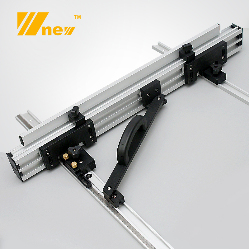 Woodworking Flip Saw Table Fence W/ Brackets System Tools Set Aluminum Alloy Fence For Circular Saw And DIY
