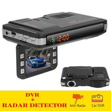 VGR3 2 in 1 Radar Detector Car Dashcam DVR Dash Cam Radar Speed Detector Warning X K Ka Band Russian Version