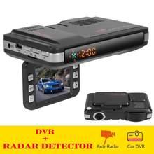 VGR3 2 en 1 Detector de Radar para coche Dashcam DVR cámara de salpicadero Radar Detector de velocidad advertencia X K Ka Band versión rusa