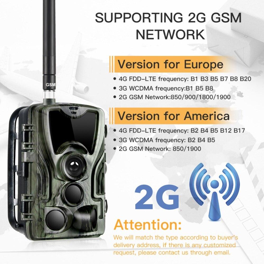 Cámara de caza HC801A 3GHC801G 2G HC801M 4G cámaras de seguimiento versión nocturna 16mp 1080p MMS SMS vigilancia vida silvestre cámara de Chasse - 2