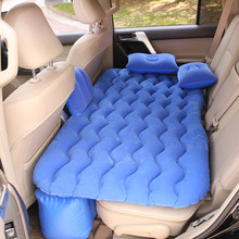 Multi functional Car Air Inflatable Back Seat Travel Bed Mattress Air Bed Sofa Pillow Outdoor Camping Mat Cushion