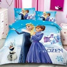 Pillowcase Bed-Sheet Duvet-Cover Frozen 2-Bedding-Set Baby Kids Princess Children Disney