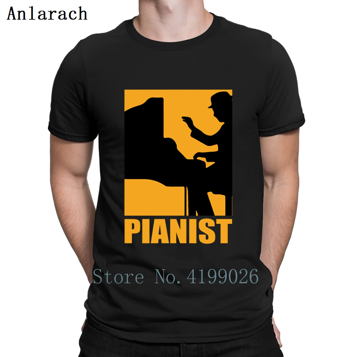 Pianist Design T Shirt New Fashion Spring Autumn Sunlight Short Sleeve Pattern Euro Size S-5xl Custom Natural Shirt image