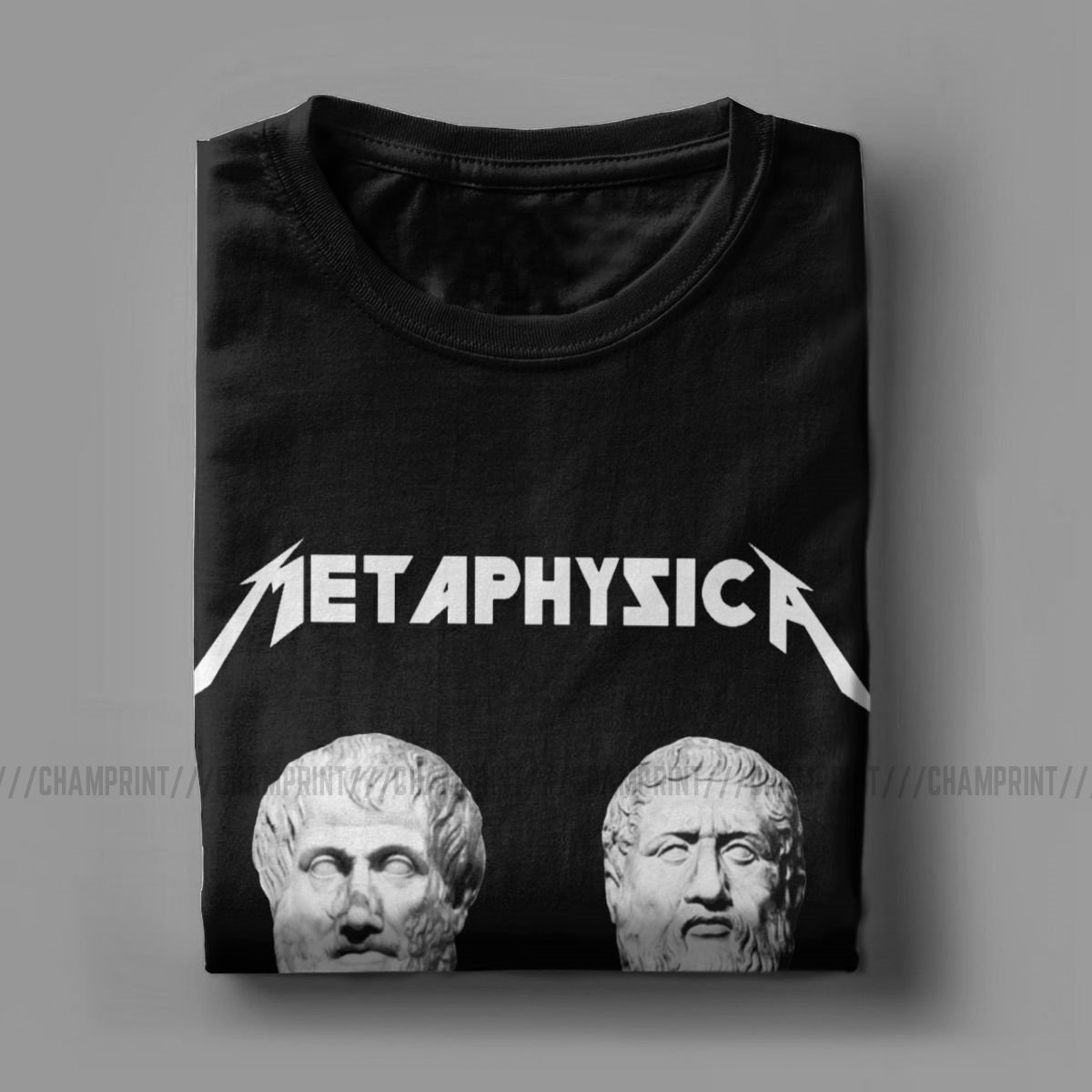 Creative Metaphysica Fun Metal Philosophy Tees Metaphysical Socrates Aristotle Pythagoras Exitentialism T-Shirts Men 6XL T Shirt