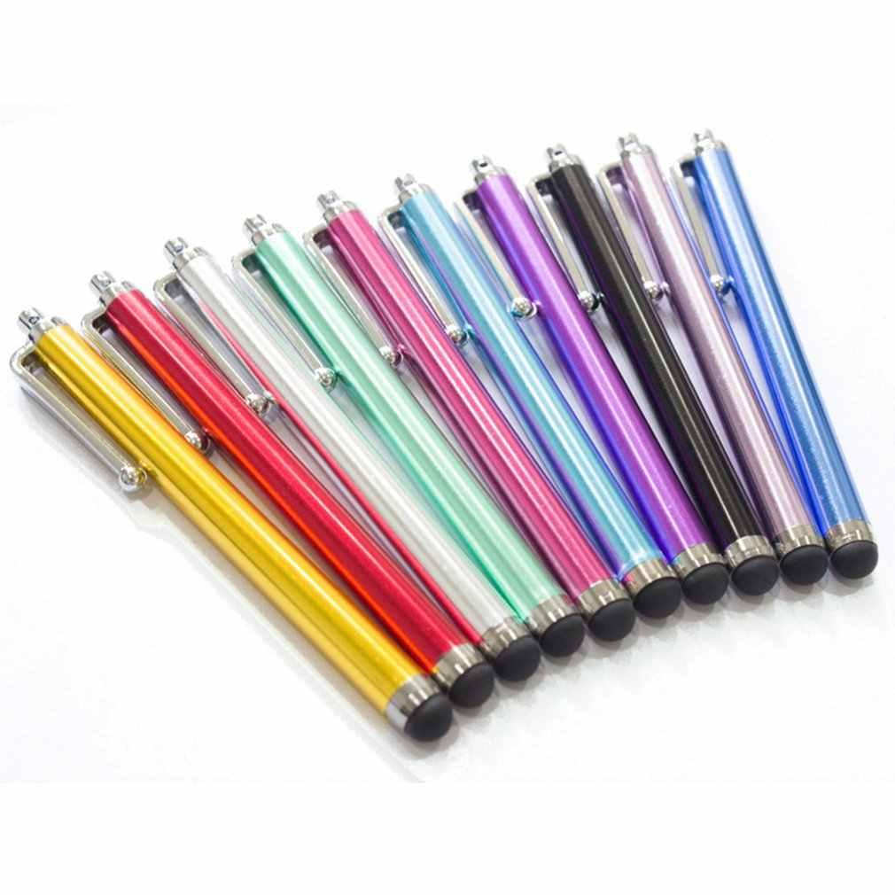 ضوء الهاتف المحمول مكثف القلم المعادن بخط اليد قلم شاشة اللمس هاتف لوحي المحمول العالمي اللمس القلم