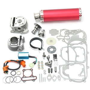 100cc 50mm Big Bore Kit Cylinder Piston Ring Power Pack Exhaust for 139QMB 1P39QMB GY6 50cc 4 Stroke for Chinese Scooters(China)