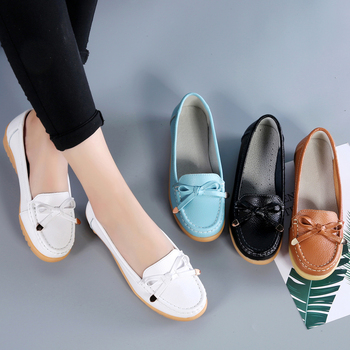 Ladies Breathable Genuine-Leather Shoes