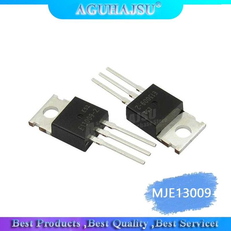10PCS MJE13009 TO220 E13009-2 13009 E13009 400V 12A TO-220 NPN In-Line Transistor