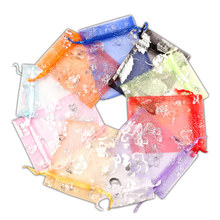 100Pcs Organza Bags Gift Bag Wedding Party Decoration Drawable Display Jewelry Candy Cake Packaging & Wrapping Supplies