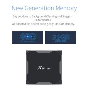 Image 5 - 안드로이드 9.0 S905x3 8K 스마트 미디어 플레이어 4 기가 바이트 RAM 32 기가 바이트 64 기가 바이트 rom을위한 X96Max TV 박스 셋톱 박스 2G16G QuadCore 2.4G & 5G 와이파이