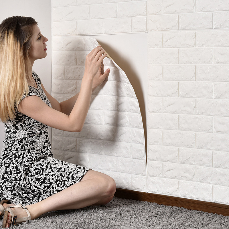 70x77/30cm Household Environment Friendly Modern 3D Wallpaper Waterproof Living Room Self Adhesive Brick Stickers For Wall