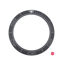 New 41.5mm Matte Black/Blue High Quality Ceramic Bezel Insert For Men's Diver Watch