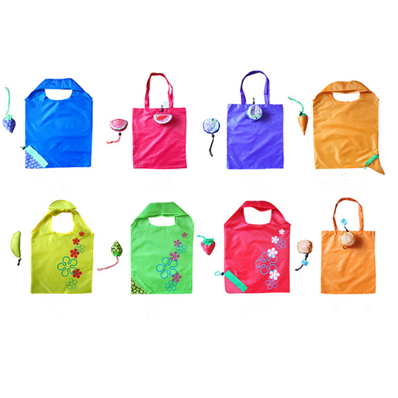 Vogvigo Environmental Storage Bag Handbag Strawberry Foldable Shopping Bags Reusable Folding Grocery Nylon Eco Tote Bag