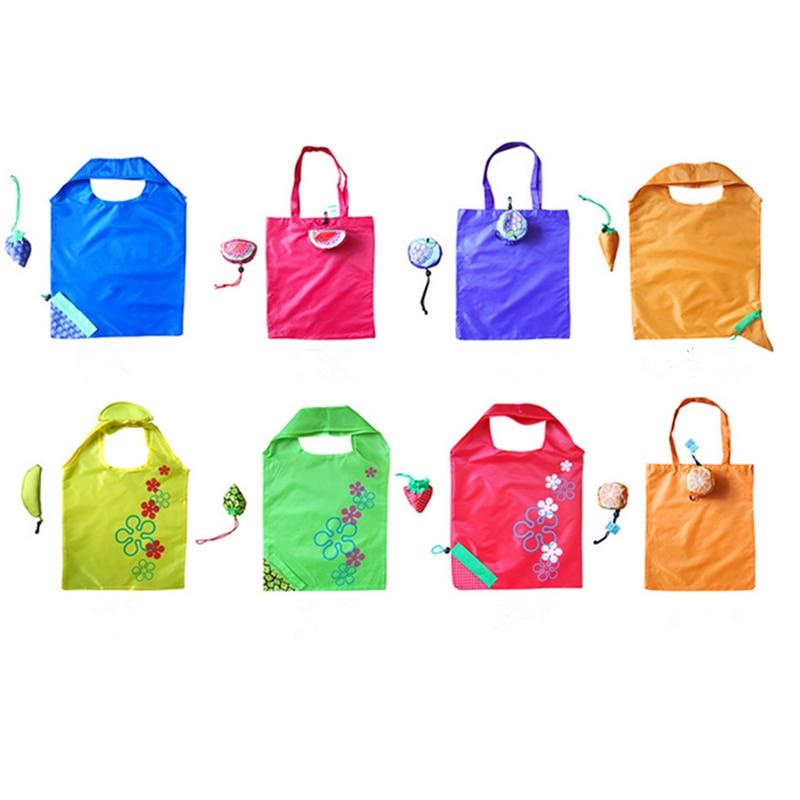 Vogvigo Environmental Storage Bag Handbag Strawberry Foldable Shopping Bags Reusable Folding Grocery Nylon Eco Tote Bag