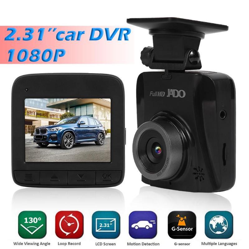 JADO Car DVR Camera Dash-Cam Video-Recorder Lcd-Screen G-Sensor Night-Vision 1080P HD