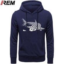 REM هوديس الغوص الأسماك القرش غواص غواص خزان قناع مضحك هدية عيد ميلاد كول عادية فخر الرجال معطف للجنسين ، بلوزات