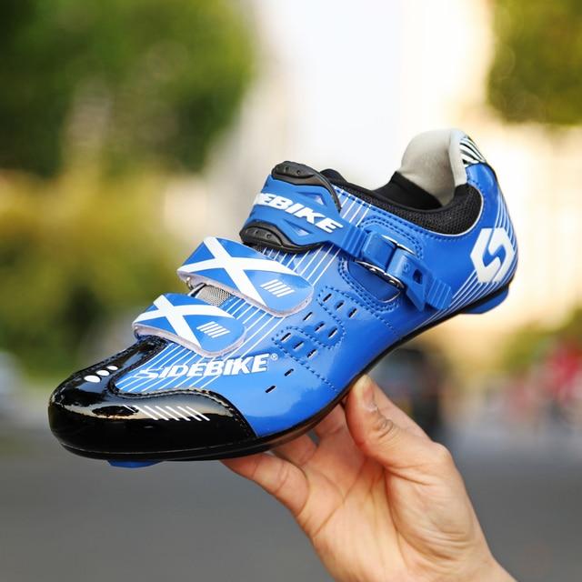 Tênis profissional sidebike, tênis de ciclismo de estrada, masculino, atlético, auto-travamento, prático 4
