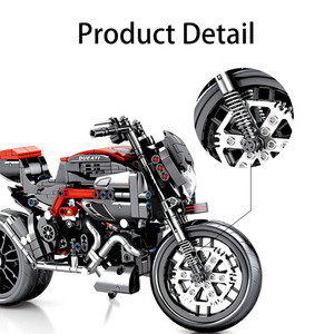 Image 2 - SEMBO 702 шт. техника мотоцикл мото от нагрузки автомобиль создатель эксперт строительные блоки город игрушки для детей мальчиков классические Кирпичи подарок